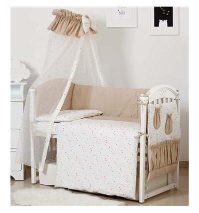 Детский постельный комплект Twins Standart 8 эл. C-038 Звездочка бежевый