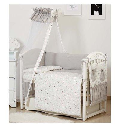 Детский постельный комплект Twins Standart 8 эл. C-039 Звездочка серый