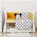 Детский постельный комплект Twins Dolce Insta 6 эл. D-512 Микки желтый с черным