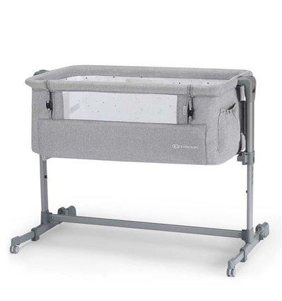 Кроватка приставная Kinderkraft Neste grey