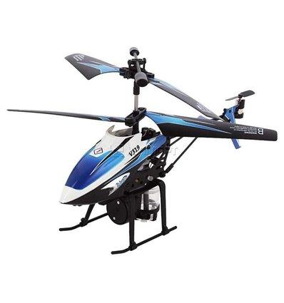 Вертоліт 3-к мікро і/ч WL Toys V319 SPRAY водяна гармата синій