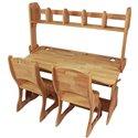 Комплект парта з надбудовою і 2 крісла Mobler Растішка, 120 см