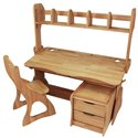 Комплект парта с надстройкой, стулом и тумбой Mobler Растишка, 120 см