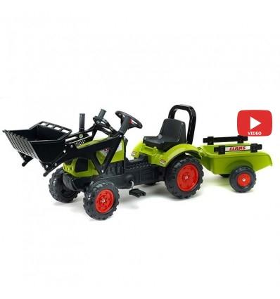 Трактор педальный с прицепом и ковшом Falk 2040AM CLAAS ARION