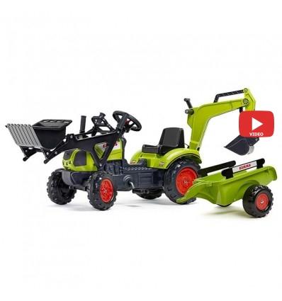 Трактор педальный с прицепом и 2 ковшами Falk 2040N CLAAS ARION