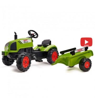 Трактор педальный с прицепом Falk 2041C CLAAS ARION