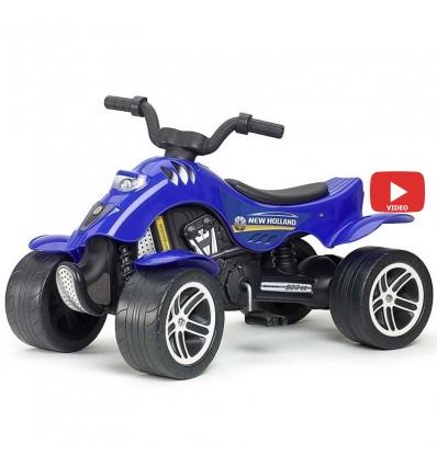 Квадроцикл педальный Falk 611 New Holland синий