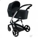 Детская коляска 2 в 1 ibebe i-stop черная хром