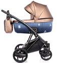 Детская коляска 2 в 1 Invictus V-Plus 2.0 Jeans Blue