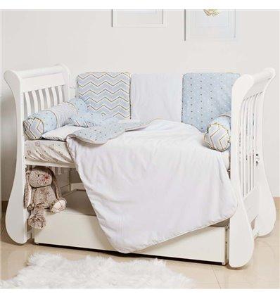 Детский постельный комплект Twins Dolce Insta 6 эл. DI2-04 голубой