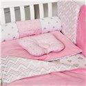 Детский постельный комплект Twins Dolce Insta 6 эл. DI2-08 розовый