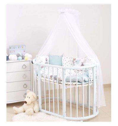 Детский постельный комплект Twins Dolce 6 эл. D-311 Forest Mint мятный