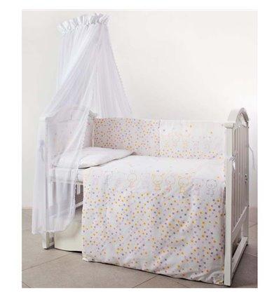 Детский постельный комплект Twins Eco Line 6 эл. E-023 Bunnies Pink
