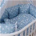Дитячий постільний комплект Twins Dolce 8 ел. D-011 Лісові мешканці Blue