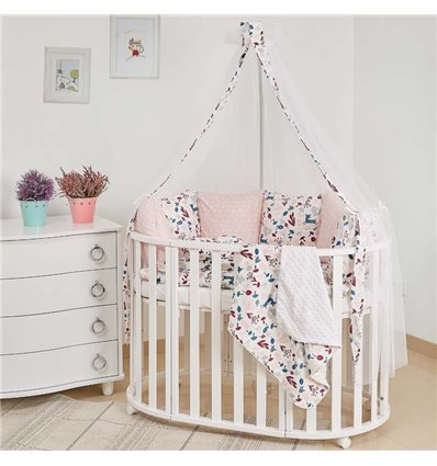 Детский постельный комплект Twins Dolce 8 эл. D-015 Лесные жители Beige