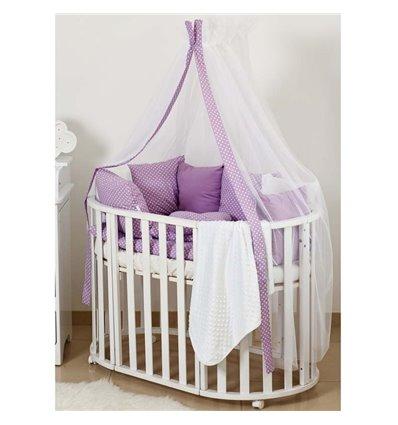 Детский постельный комплект Twins Dolce 8 эл. DP-407 Горошки Violet