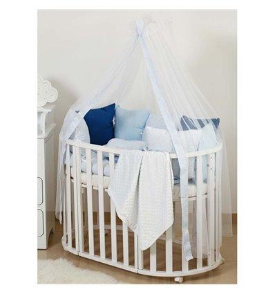 Детский постельный комплект Twins Dolce 8 эл. DP-408 Горошки Blue