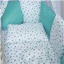 Детский постельный комплект Twins Dolce 8 эл. D-402 Сердечки Mint