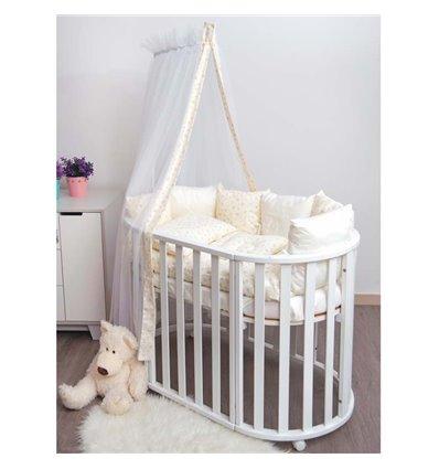 Детский постельный комплект Twins Dolce 8 эл. D-403 Сердечки Ecru