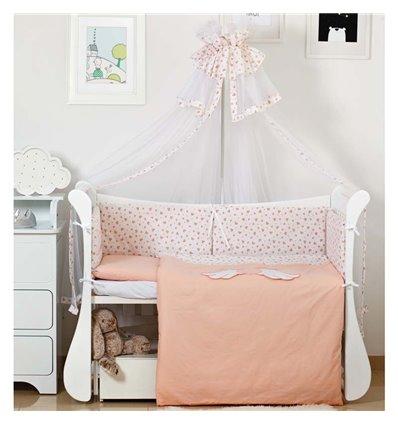 Детский постельный комплект Twins Evo 8 эл. A-043 Angel Baby Coral