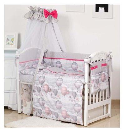 Детский постельный комплект Twins Modern 8 эл. P-111 Воздушный шар Grey