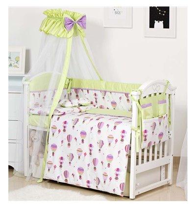 Детский постельный комплект Twins Modern 8 эл. P-113 Воздушный шар Green