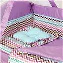 Детский постельный комплект Twins Modern 8 эл. P-116 Зигзаг Violet