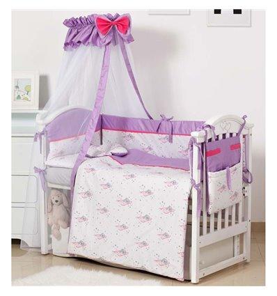 Детский постельный комплект Twins Modern 8 эл. P-117 Мишки Pink