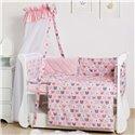 Дитячий постільний комплект Twins Premium Glamour 8 ел. TG-08B Bear Pink