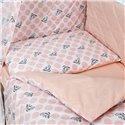 Детский постельный комплект Twins Premium Glamour 8 эл. TG-08G Polka Dots Pink