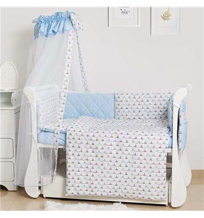 Детский постельный комплект Twins Premium Glamour 8 эл. TG-09S Sea Trip