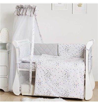 Детский постельный комплект Twins Premium Glamour 8 эл. TG-10S Starlet Grey