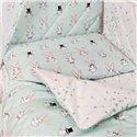 Детский постельный комплект Twins Premium Glamour 8 эл. TG-14R Rabbits Mint