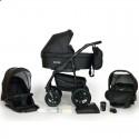 Детская коляска 3 в 1 Verdi Sonic Plus 02 черная с фиолетовым