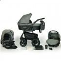 Дитяча коляска 3 в 1 Verdi Sonic Plus 04 сіра з чорним