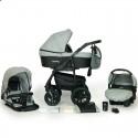 Детская коляска 3 в 1 Verdi Sonic Plus 06 серая с черным