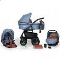 Детская коляска 3 в 1 Verdi Sonic Plus 11 голубая