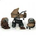 Детская коляска 3 в 1 Verdi Sonic Plus 14 коричневая