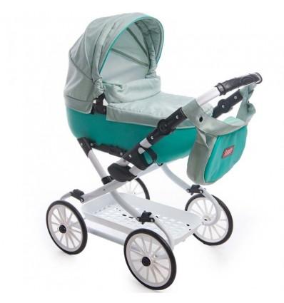Коляска для куклы Broco mini Avenu 2020 мятная 09
