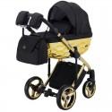Детская коляска 2 в 1 Adamex Chantal Polar Gold Star 13 черная