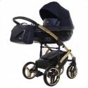 Детская коляска 2 в 1 Junama Saphire Eco 01 Blue-Gold