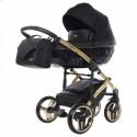Детская коляска 2 в 1 Junama Saphire Eco 03 Black-Gold