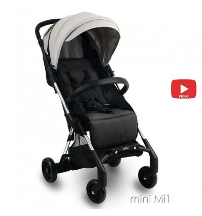 Детская прогулочная коляска Ibebe Mini Mi1 серая