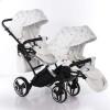 Универсальная коляска для двойни Junama Glow Duo Slim 03