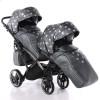 Универсальная коляска для двойни Junama Glow Duo Slim 04