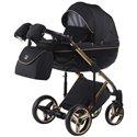 Детская коляска 2 в 1 Adamex Chantal Polar Gold C1-A черная