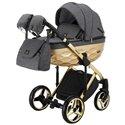 Детская коляска 2 в 1 Adamex Chantal Polar Gold Star 1 серая