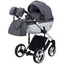 Детская коляска 2 в 1 Adamex Chantal Polar Chrome Star 2 серая