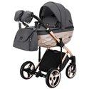 Детская коляска 2 в 1 Adamex Chantal Polar Gold Star 4 серая