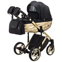 Детская коляска 2 в 1 Adamex Chantal Polar Gold Star 6 черная